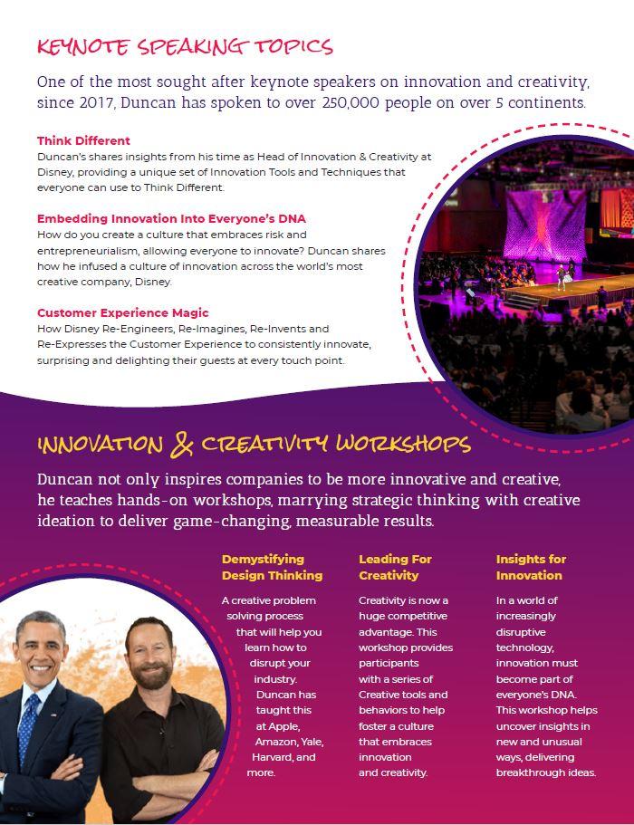 duncan wardle innovation keynote speaker contact booking