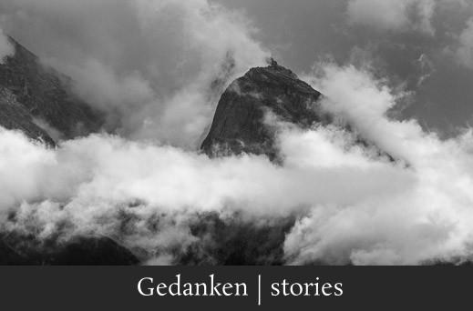 Gedanken stories - Ruhige Fotografie von Wolken und Bergen