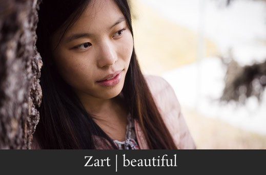 Zart beautiful - Sanftes Portrait einer asiatischen Frau