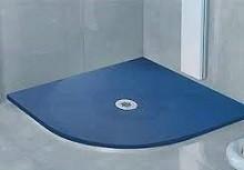 plato de ducha resina semicircular