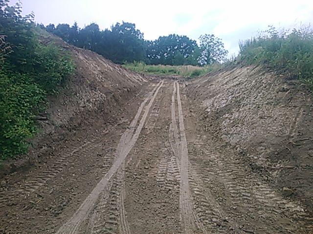 Création d'un chemin d'accès pour futur pavillon