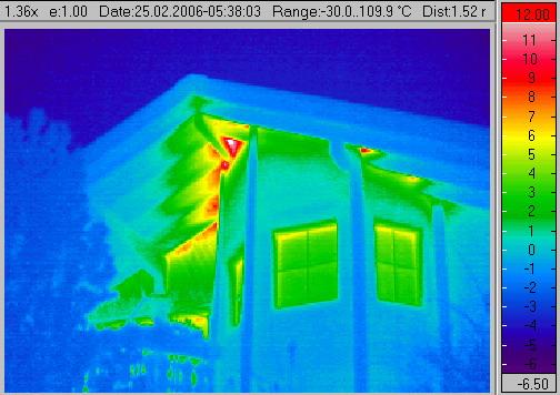 Thermografie Luftdurchlässigkeit