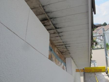 Vordachuntersicht Luftdurchlässigkeit
