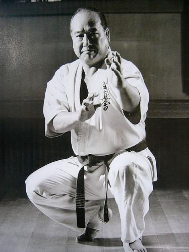 Soshin-dachi in kata Garyu.