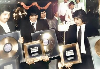 Los Chichos foto de  1983 En la Boite de SIDDHARTE-   (archivos de Philips)