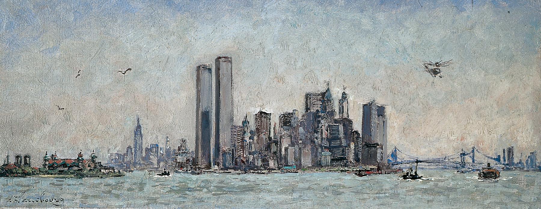 «Printemps vers Manhattan, le matin» 1973, 20cmx50cm, NY18