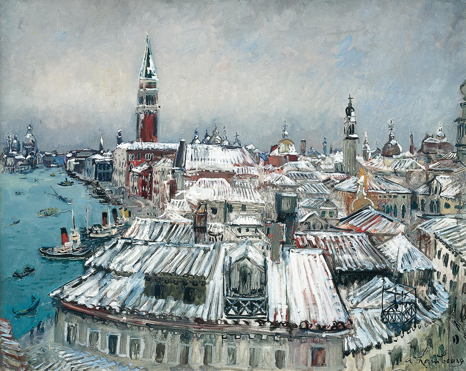 «Les toits sous la neige» 1958, 81cmx100cm, VE 35