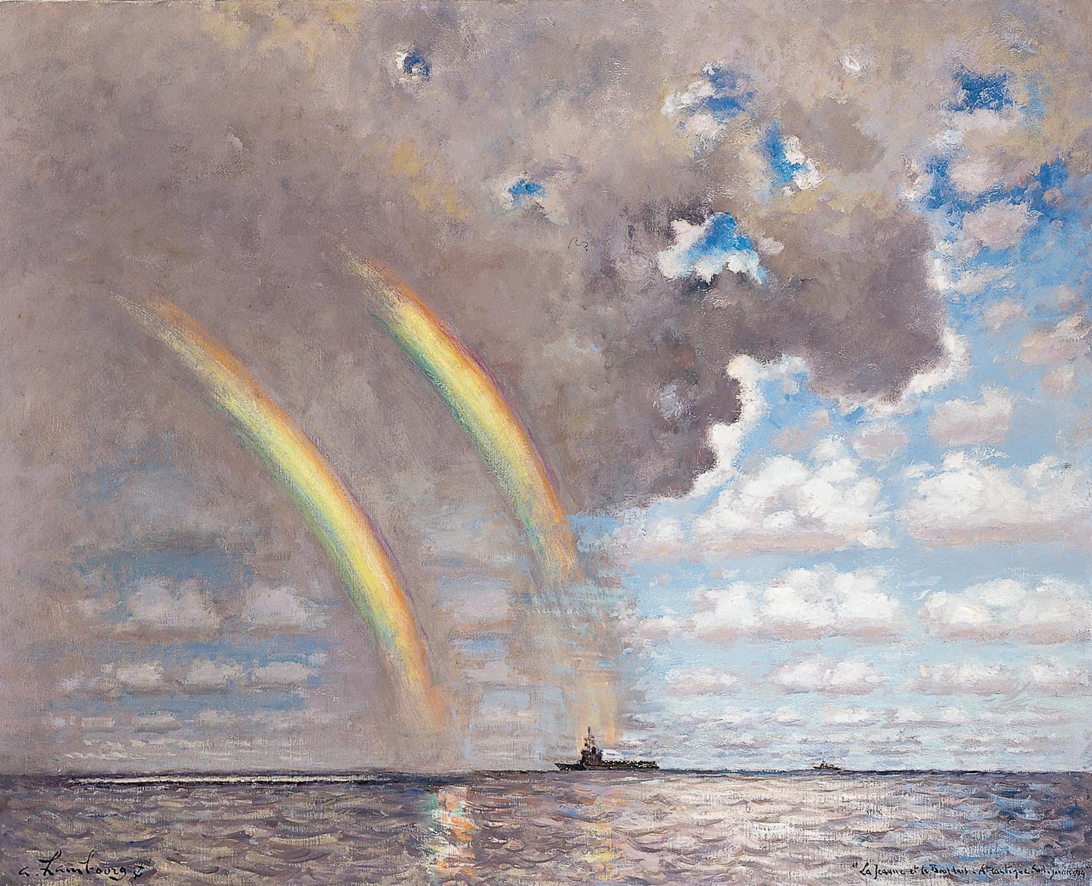 «La Jeanne et Le Bourdais, Atlantique sud» 1984, 81cmx100cm, MNA 29