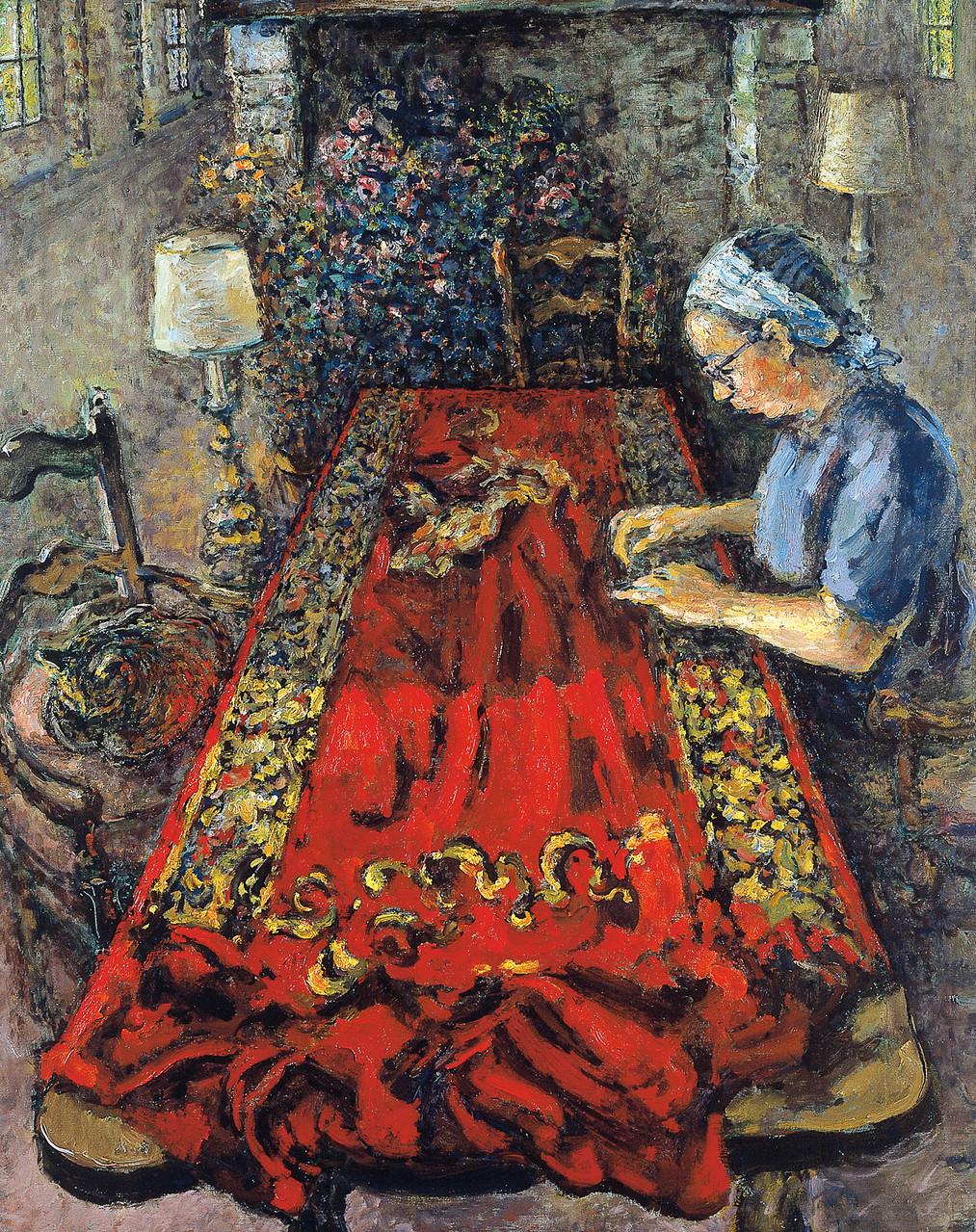 «Travaux d'aiguille à la Thillaye» 1993, 92cmx73cm, FC 64