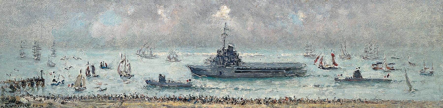 «Vers l'estuaire de Brest, pour La Jeanne et les Sous- marins» 1994, 15cmx60cm, MNA 76