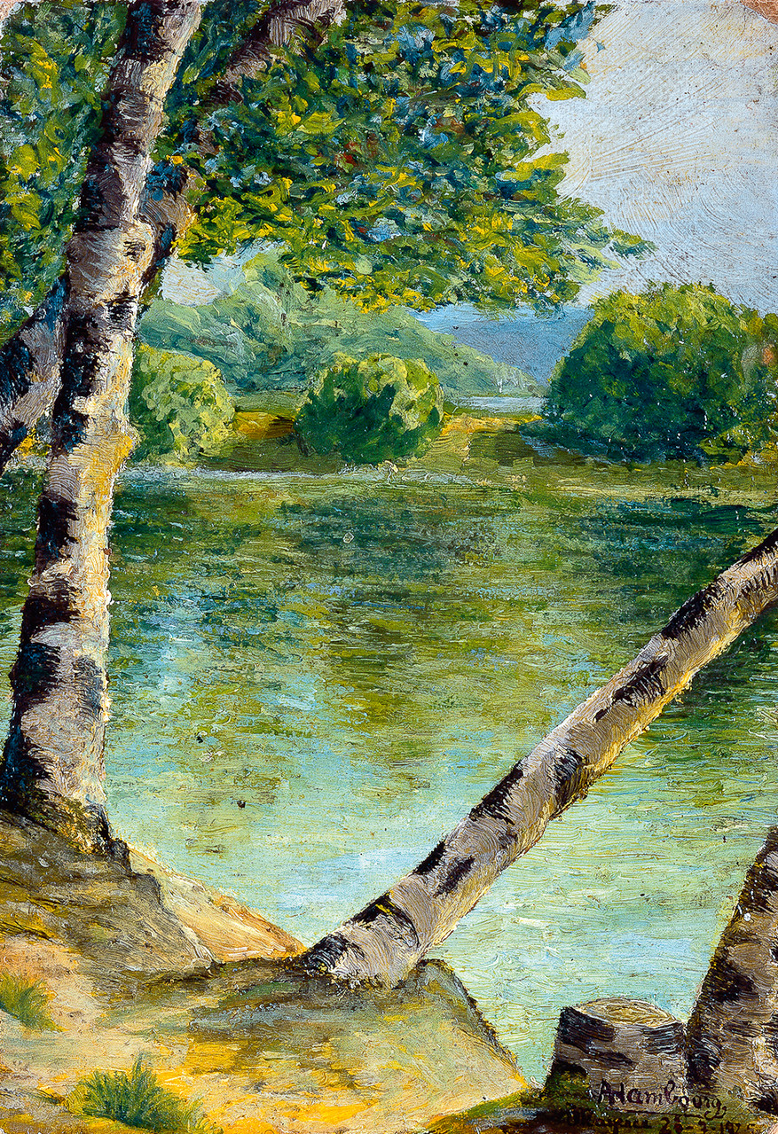 «Bras du Rhin à Mayence» 1925, 27cmx18,5cm, DP01