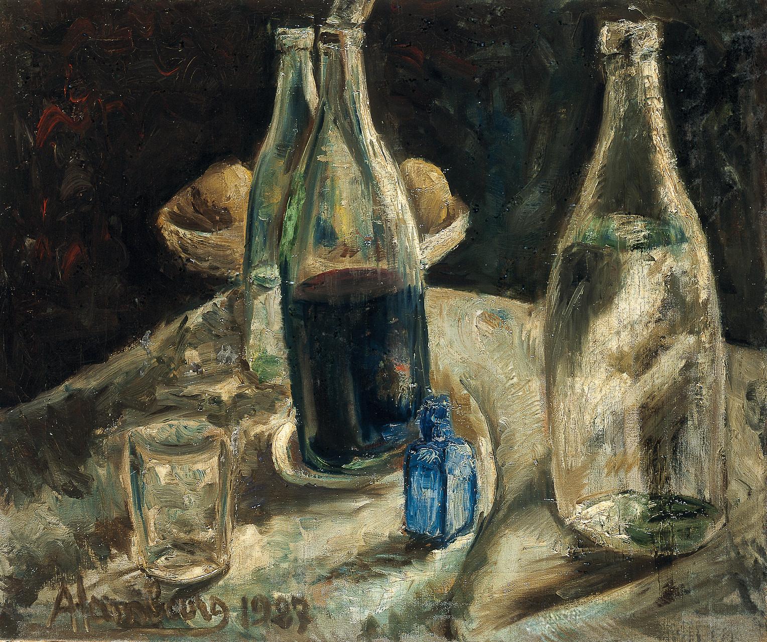 «Les bouteilles» 1927, 54cmx65cm, VS6