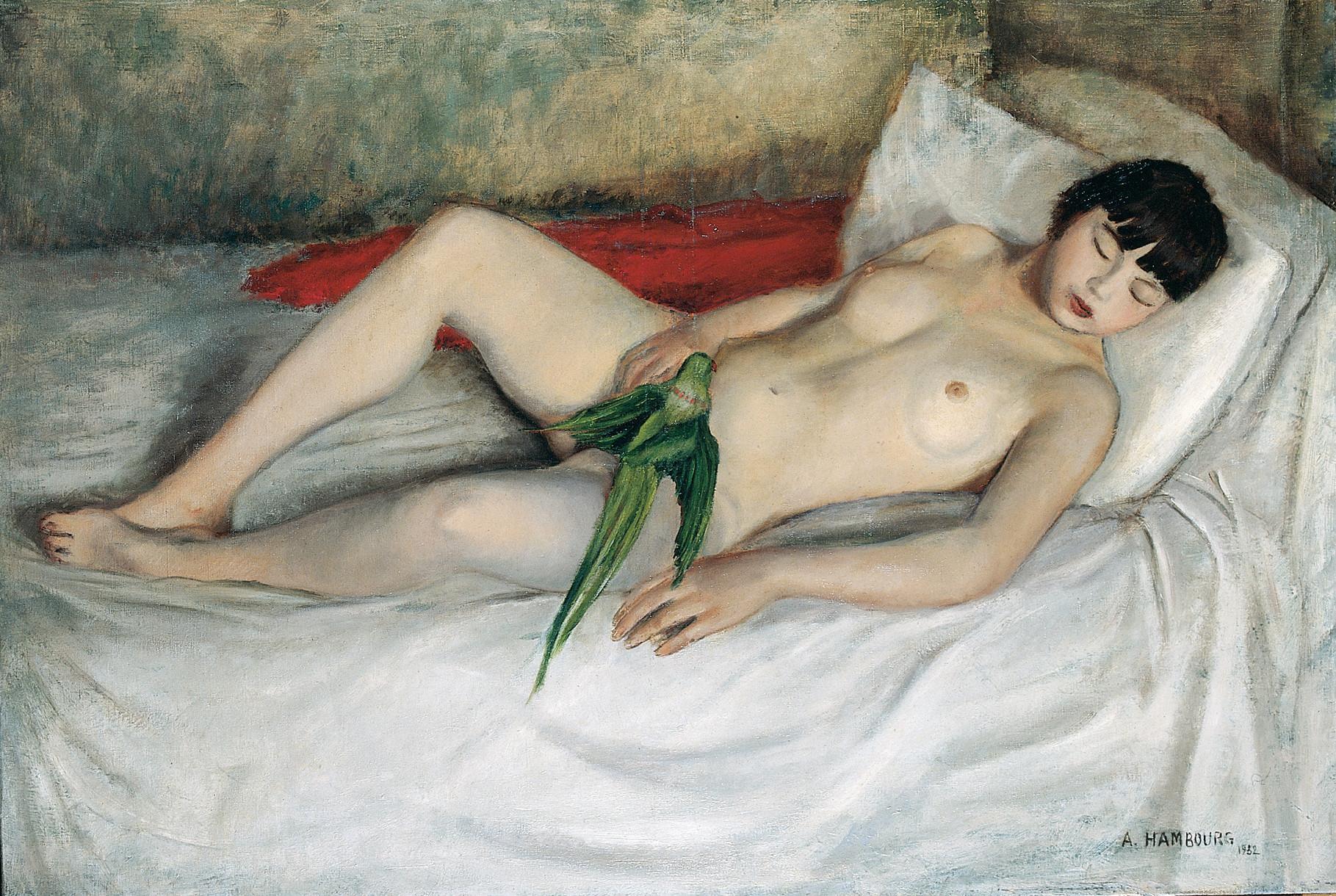 La Femme à la Perruche ou la Lédat au perroquet 1932 89x130cm NU7