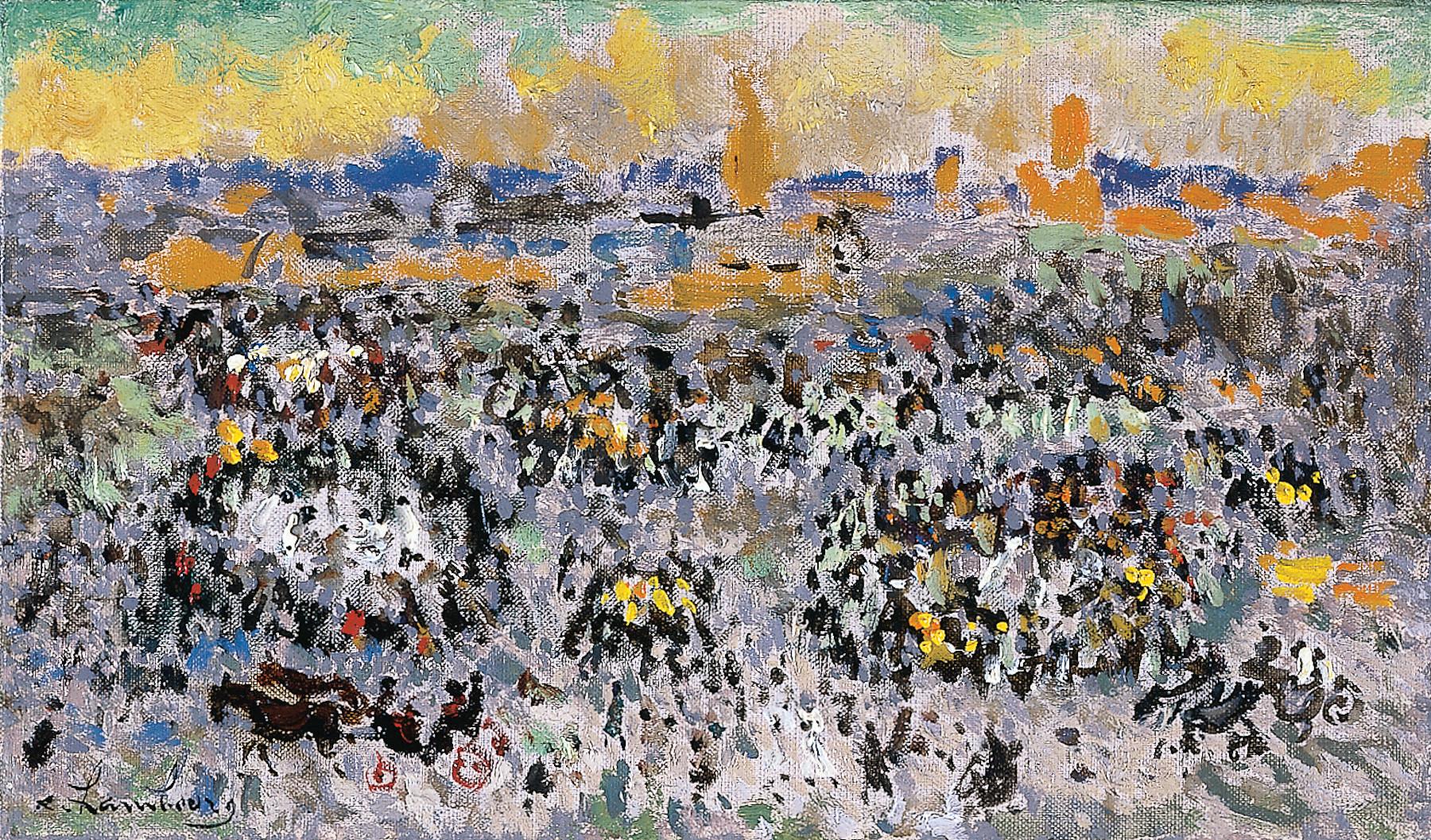 «Le soir sur la Place Djema-el-Fna» 1966, 16cmx27cm, MG151