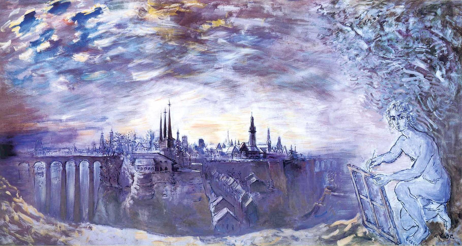 """Luxembourg, la Peinture"" 1972, 205x422cm, DEC25"