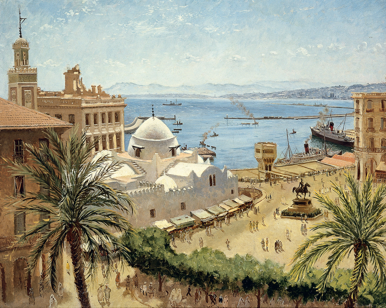 «Alger la Place du Gouvernement» 1939, 81cmX100cm, MG 67