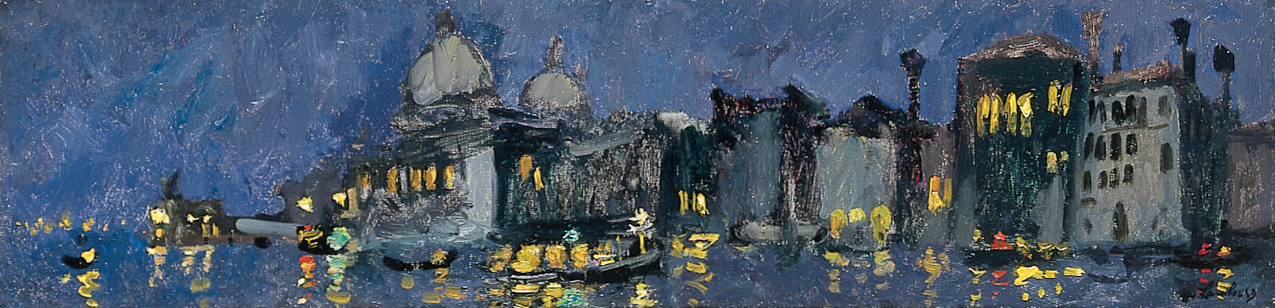 «Lumières sur le Grand Canal» 1960, 16cmx61cm, VE 79