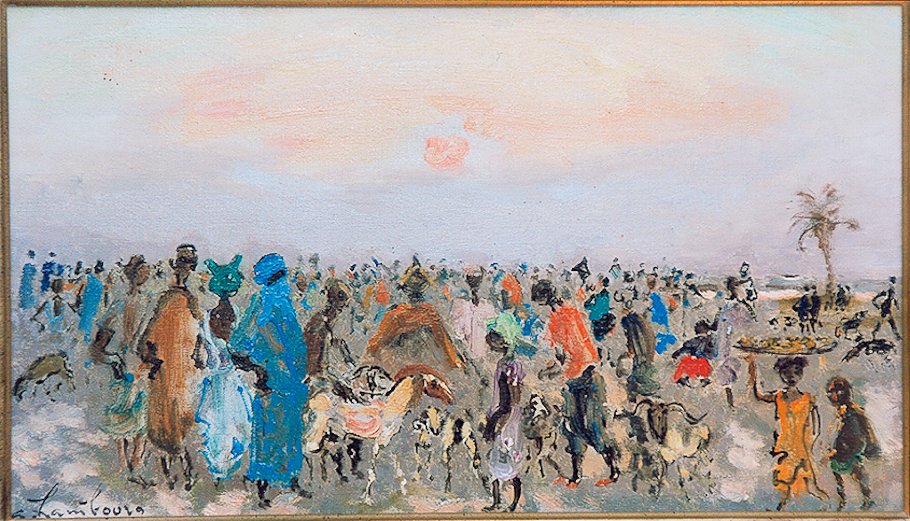 «Le  marché aux moutons» 1972, 27cmx46cm, CI93