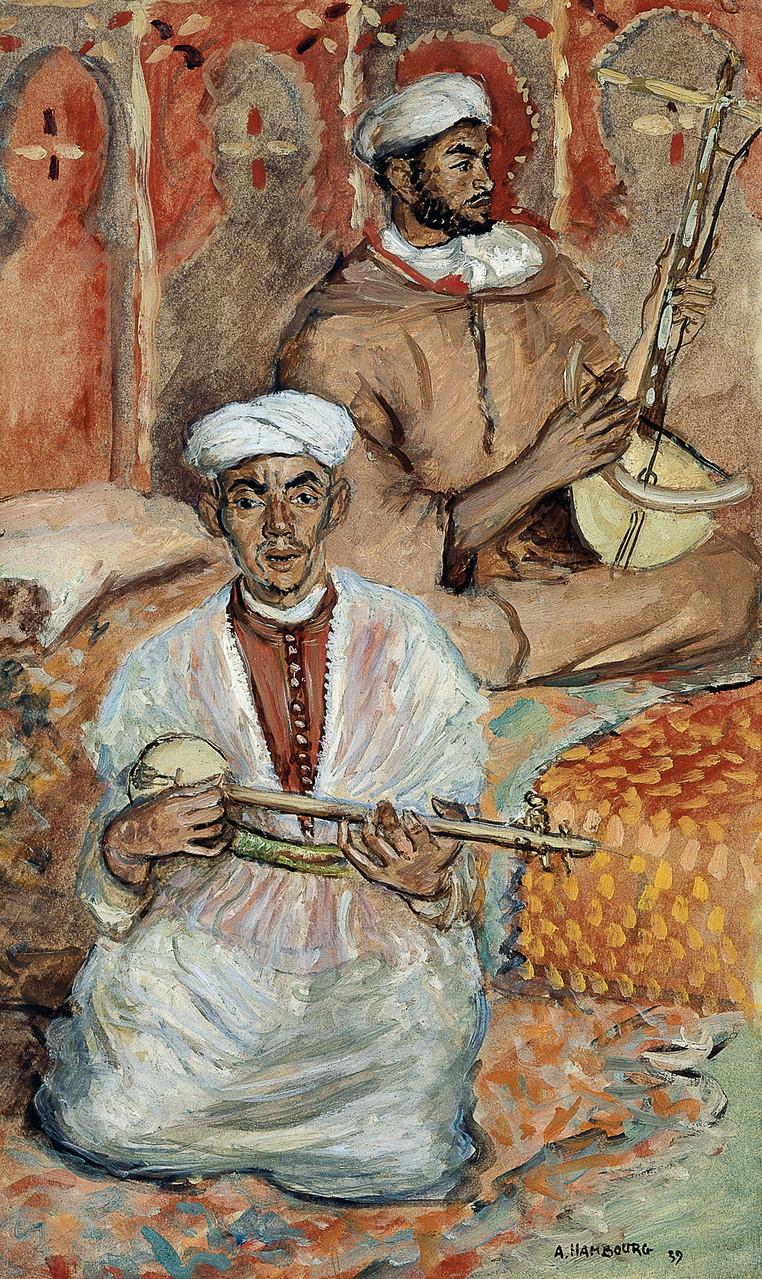 «Les musiciens de Fez» 1939, 46cmx28cm, MG 87