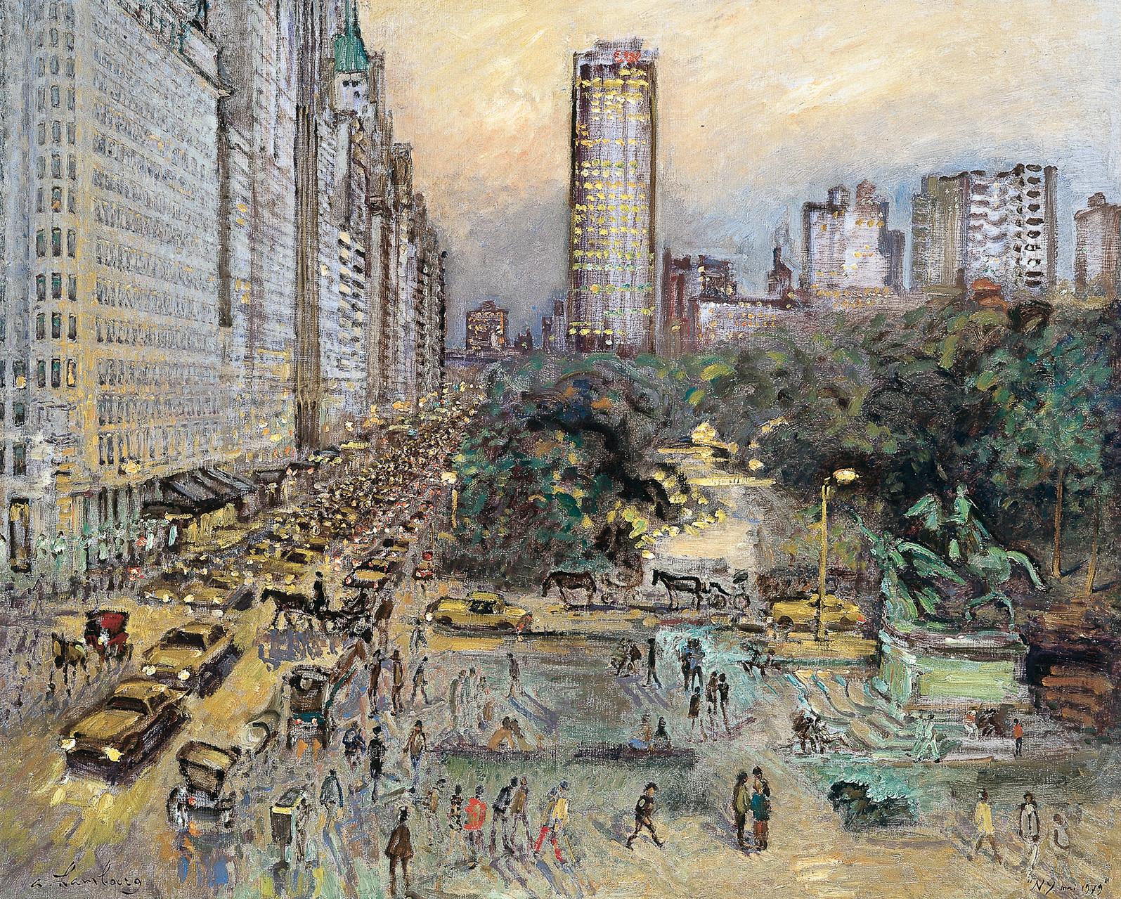 «New York s'allume» 1979, 81cmx100cm, NY47