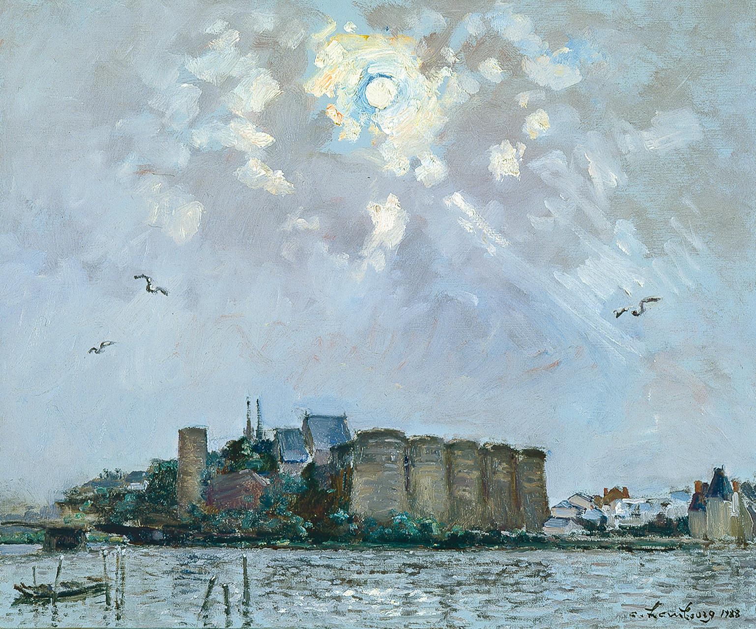«Le matin au printemps à Angers» 1988, 54cmx65cm, DP21