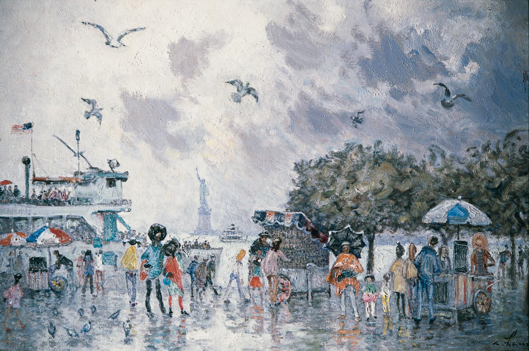 «Jour de pluie légère à Manhattan» 1978, 50cmx73cm, NY23