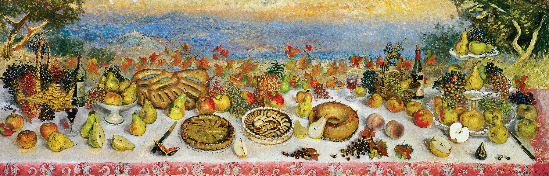 """Les fruits de la Terre"", 1962, 115x350cm, DEC4"