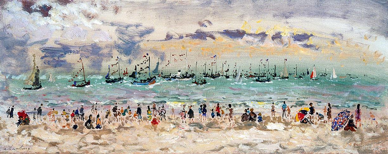 Fête de la mer à Trouville 1965 40x100cm BEF10r