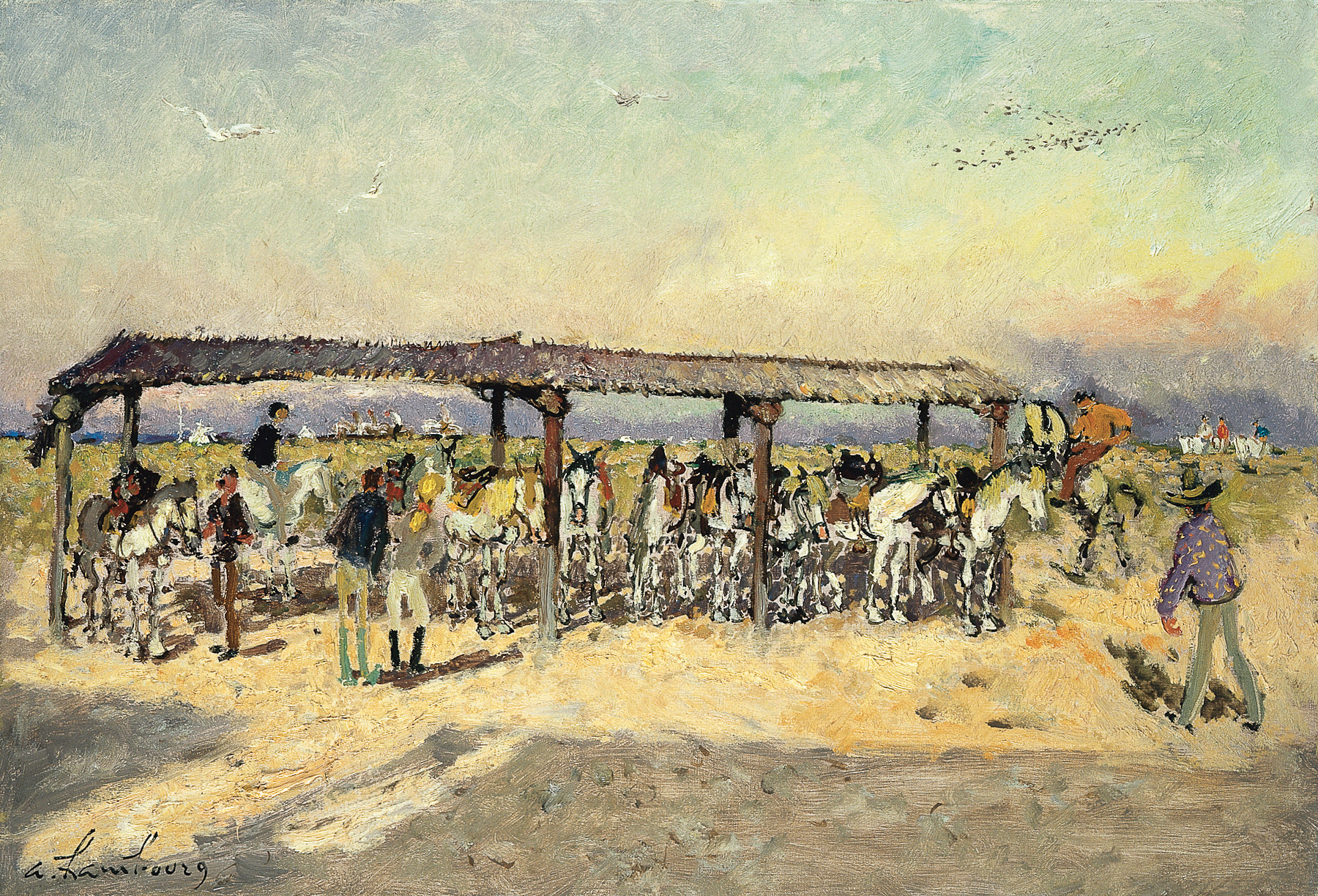 «L'après-midi en Camargue» 1969, 50cmx73cm, SU28