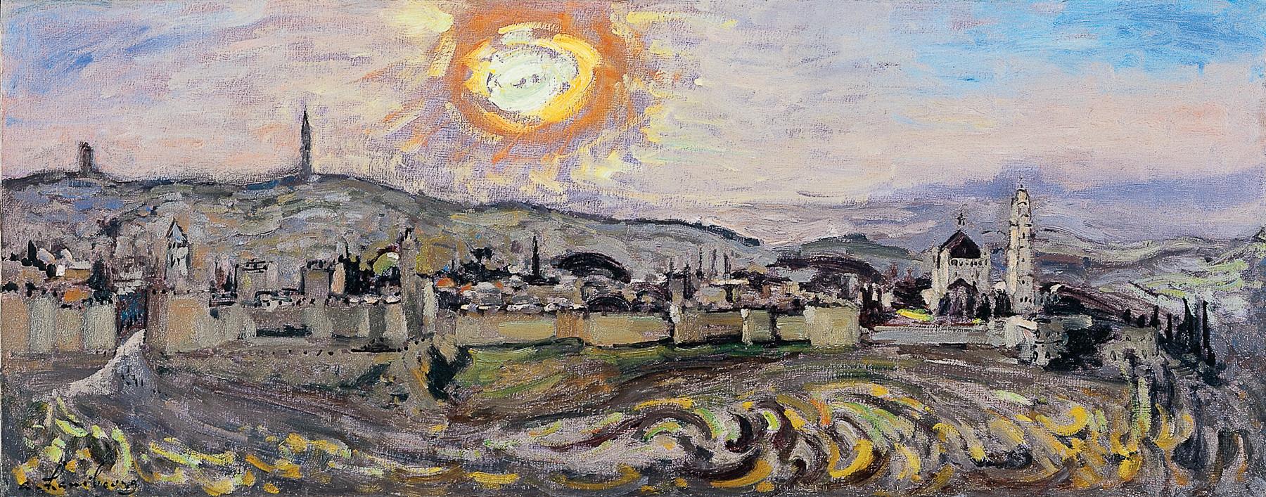 «La nuit monte sur Jérusalem» 1971, 35cmx100cm, JE45