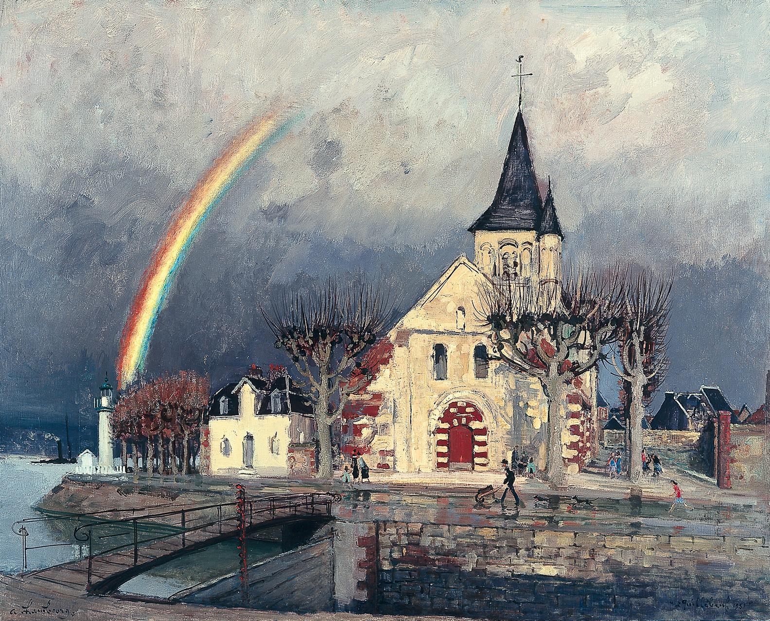 «Arc en ciel à Quillebeuf»1951, 81cmx100cm,GP 61