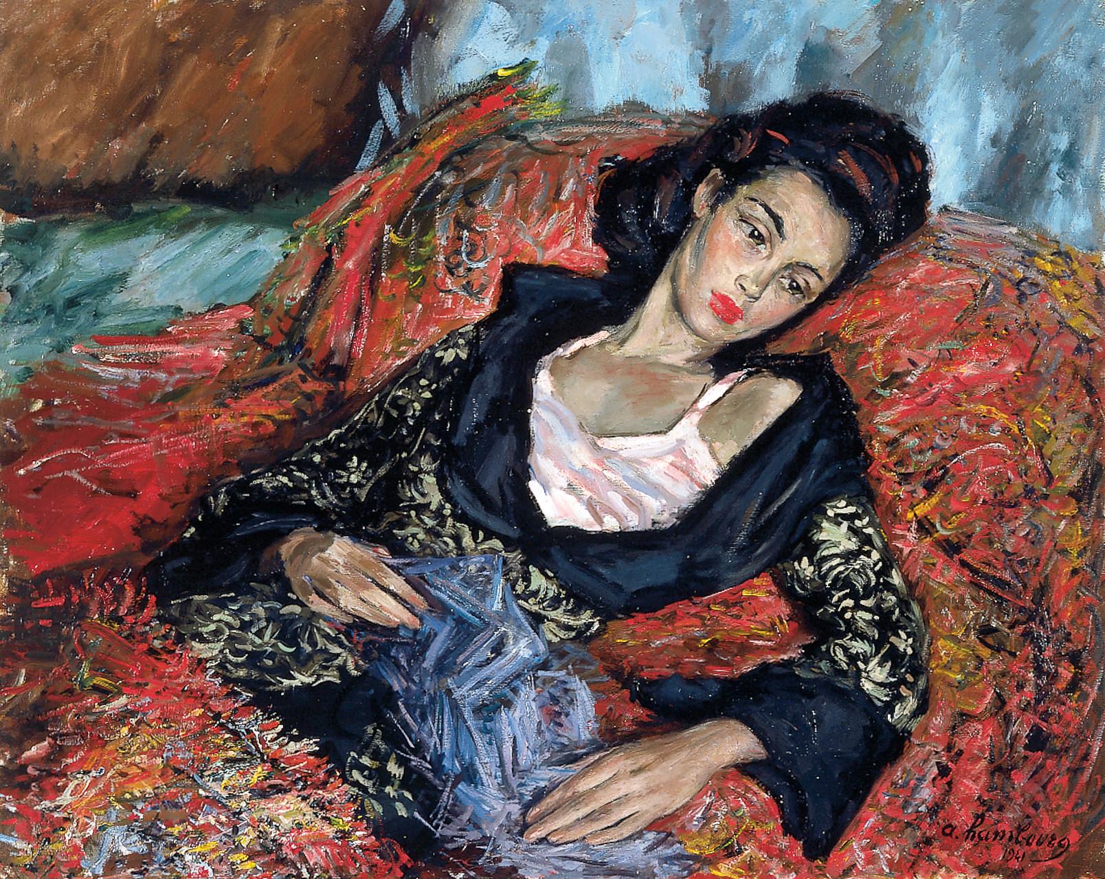 «Figure de brune étendue» ou «Annie étendue» 1941, 65cmx81cm, FC 13
