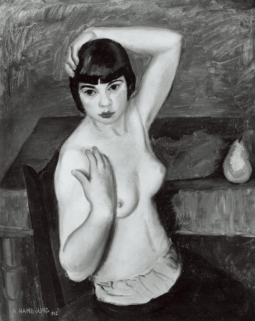 «La femme au châle» 1933, 65cmx81cm, NU 11