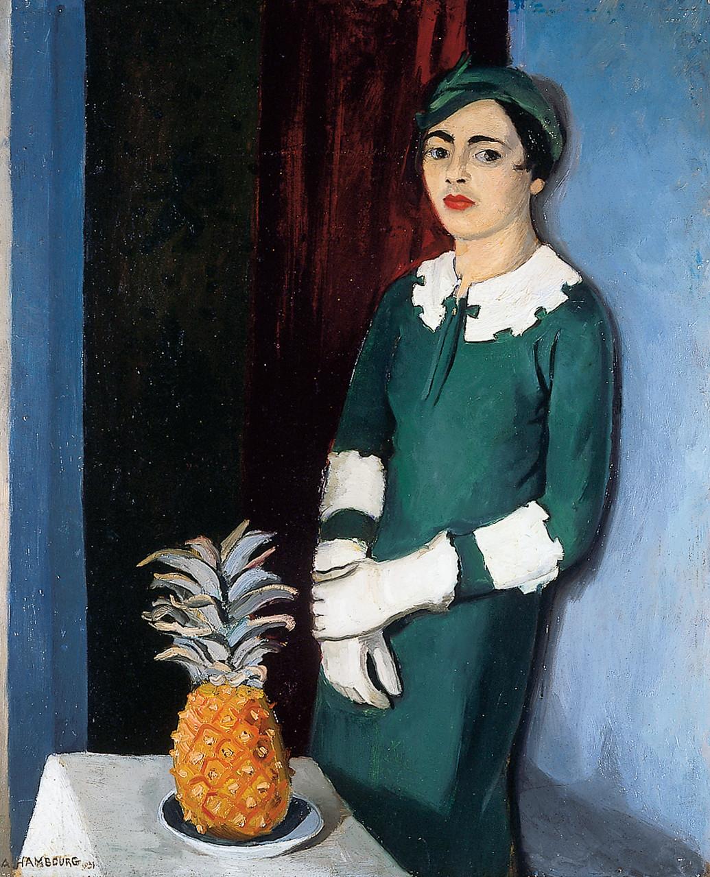 «La femme à l'ananas» 1931, 100x81cm, FC5