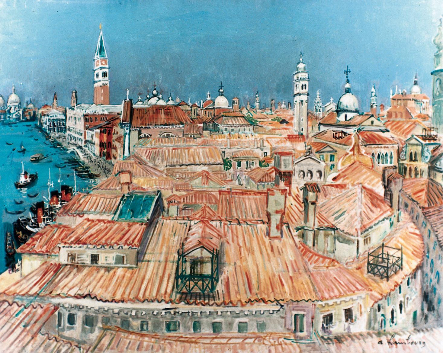 Les toits de Venise au soleil 1957 81x100cm VE05