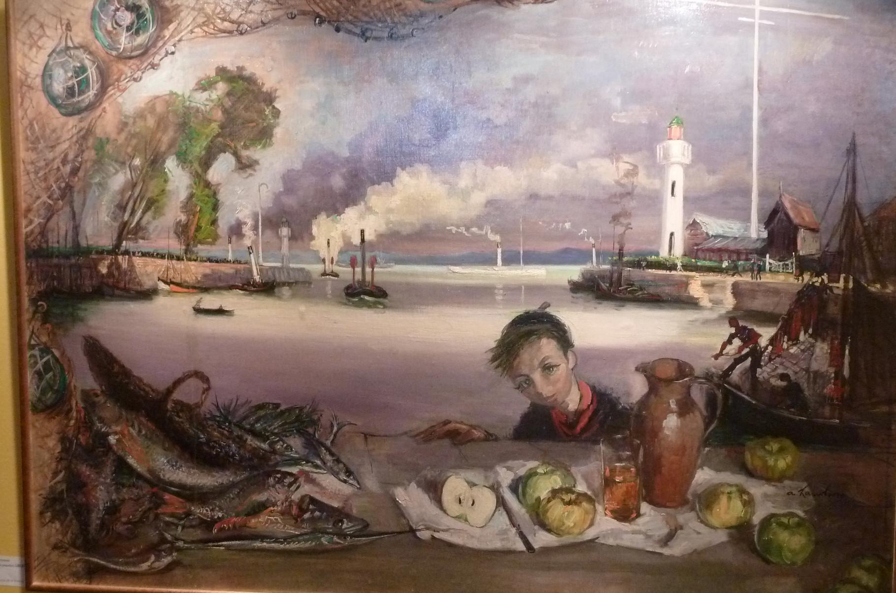 """""""Le Port de Honfleur"""" 1950, 130x160cm, DEC10"""