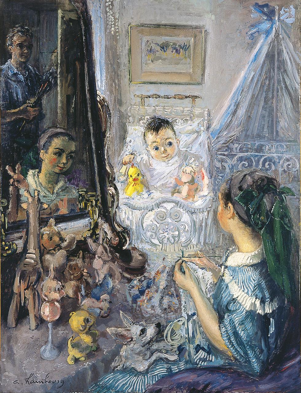 «Le bonheur ou les reflets du bonheur» 1954, 116cmx89cm, FC 28