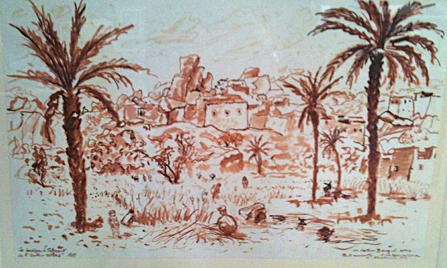 1939 Tafraout huile sur papier