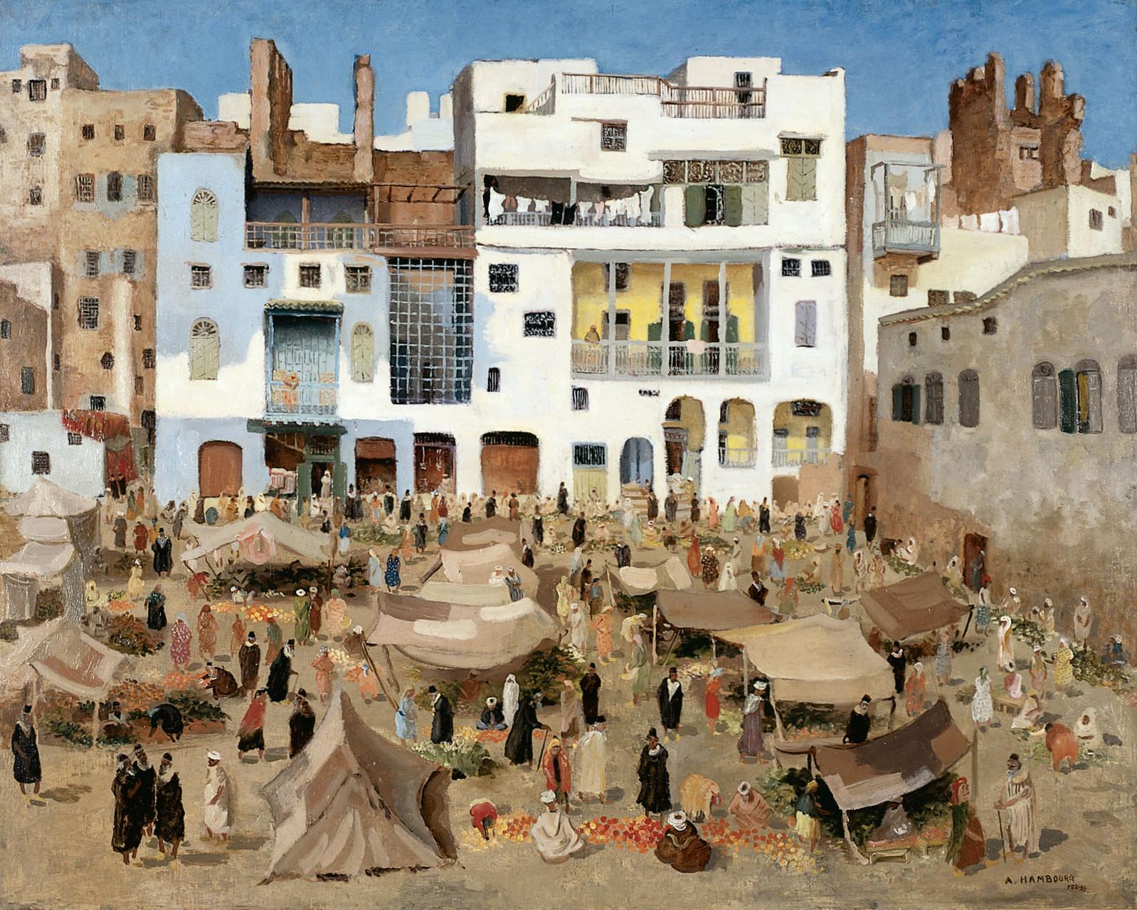 Jour de Marché à Fez 1939 81X100cm MG122