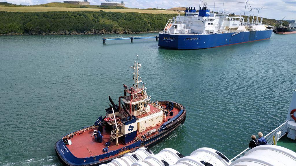 Begrüßung in Pembroke Dock