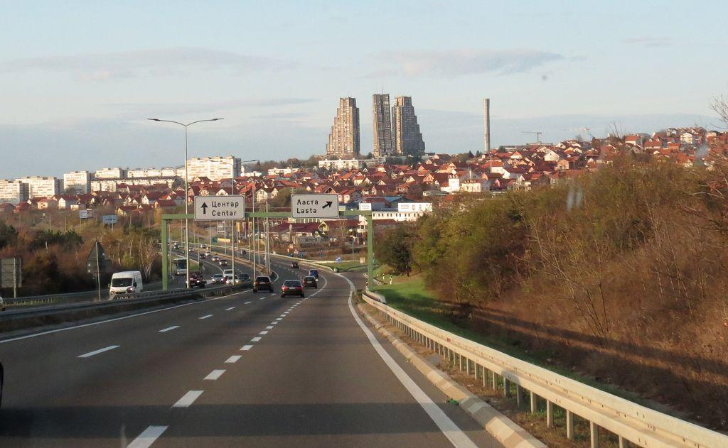 Anfahrt auf Belgrad