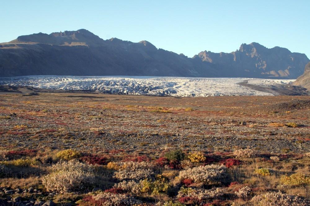 Abends verlassen wir den Skaftsfellsjökull...
