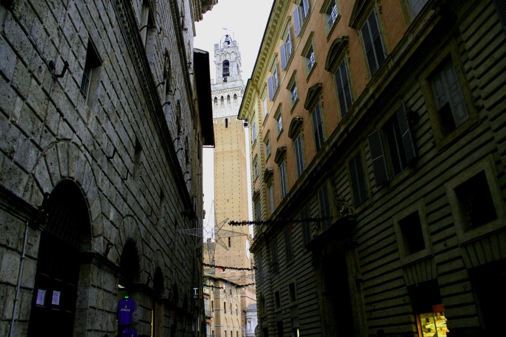 Blick zum Torre del Mangia