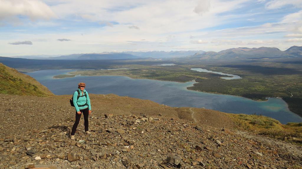 Blick von oben auf den Kathleen Lake