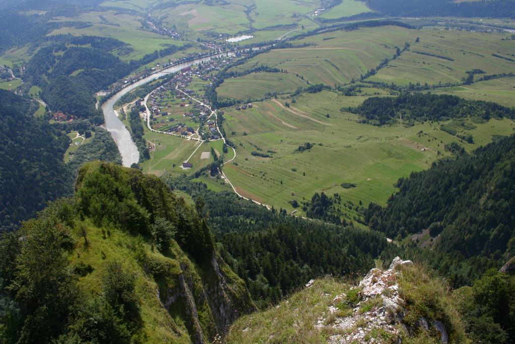 Blick auf den Dunajec