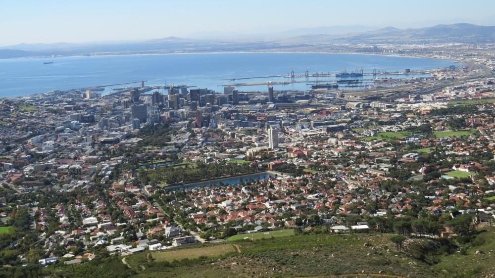 Blick auf Kapstadt...