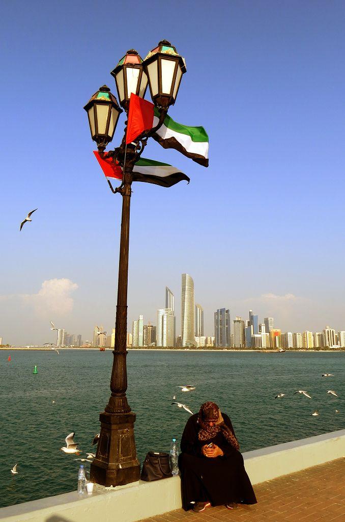 Blick auf die Skyline Abu Dhabis