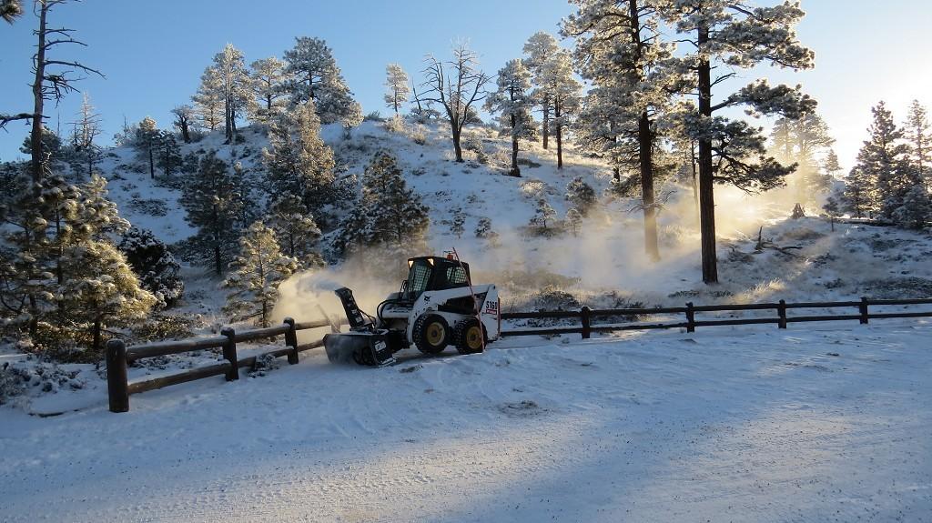 Morgenstimmung im verschneiten Bryce Canyon