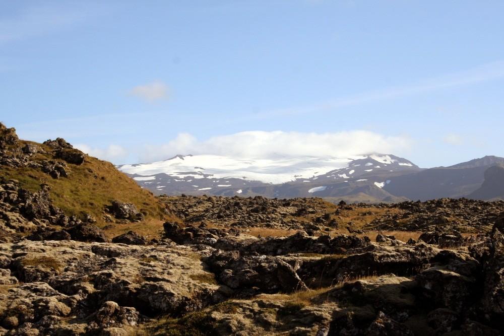 Snaefellsjökull, der mystische, vergletscherte Vulkankegel
