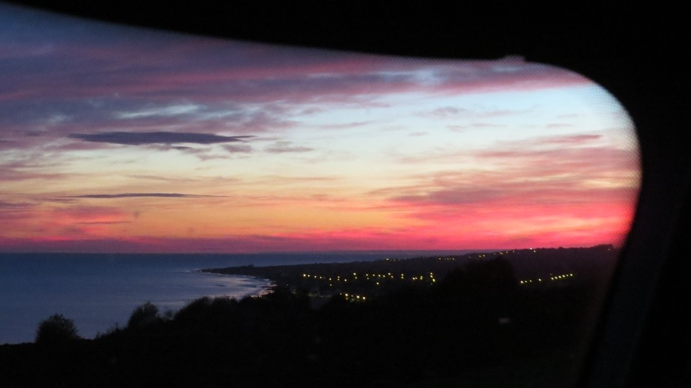 Sonnenaufgang bei Arromanches